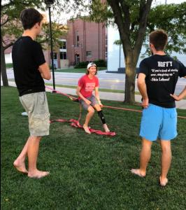 wyatt2 266x300 - Student-athlete finds balance in an uncommon activity: slacklining