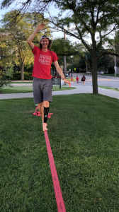 wyatt3 168x300 - Student-athlete finds balance in an uncommon activity: slacklining