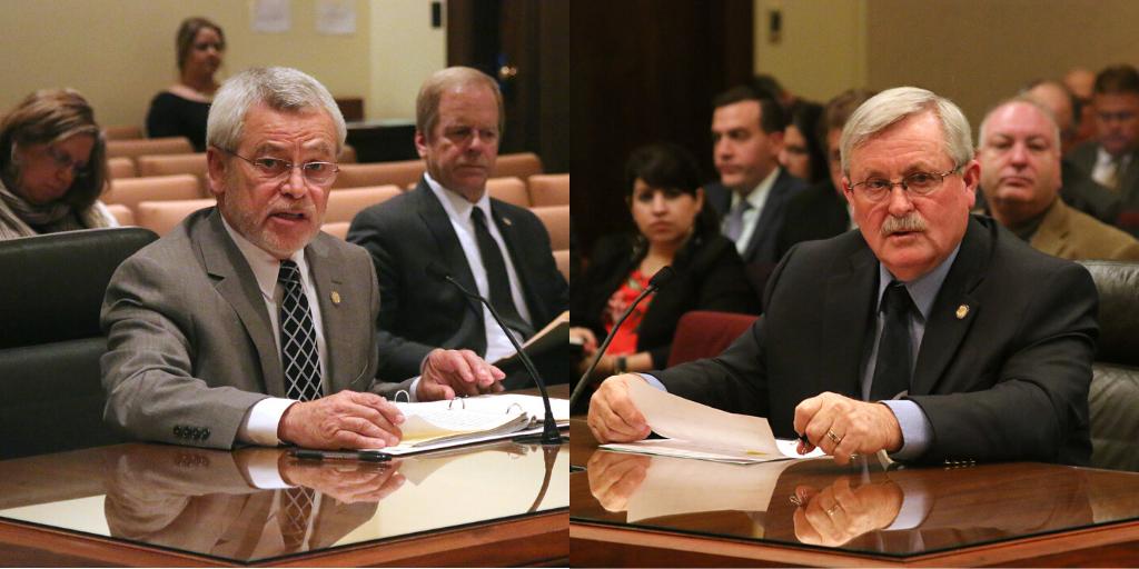 File photos of Senators Steve Halloran and Steve Erdman.