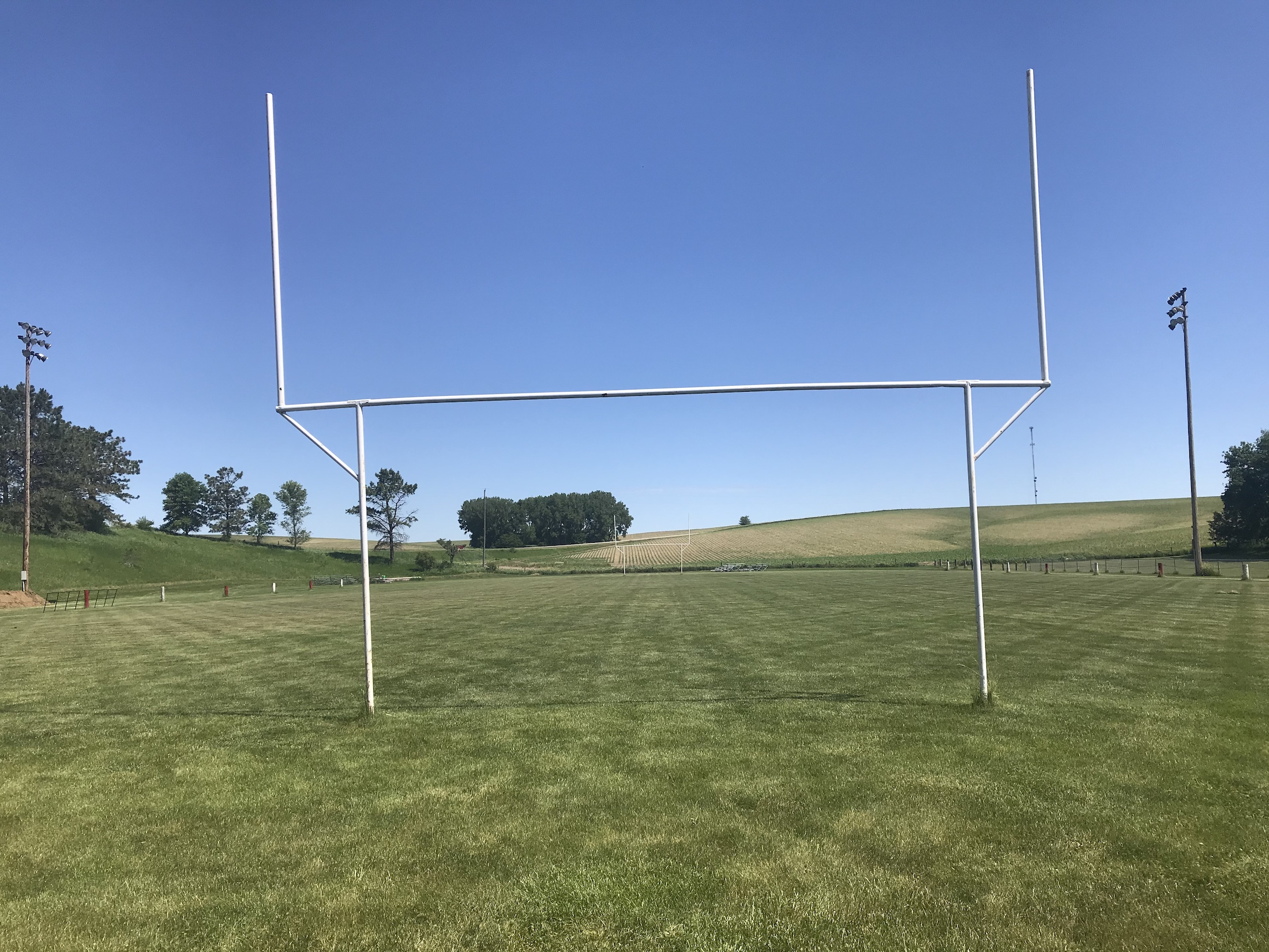 End zone view of Jim Winch Memorial Football Field