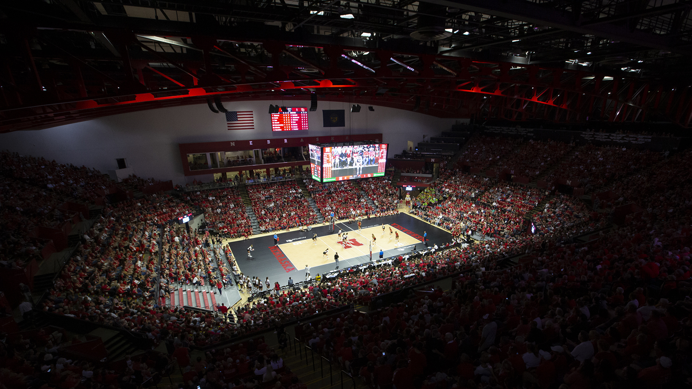 Husker Volleyball Game v. Denver in Bob Devaney Sports Center