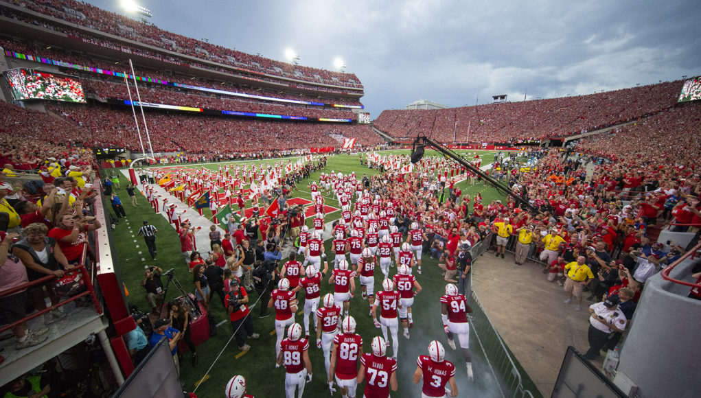 Nebraska football tunnel walk against Akron in 2018