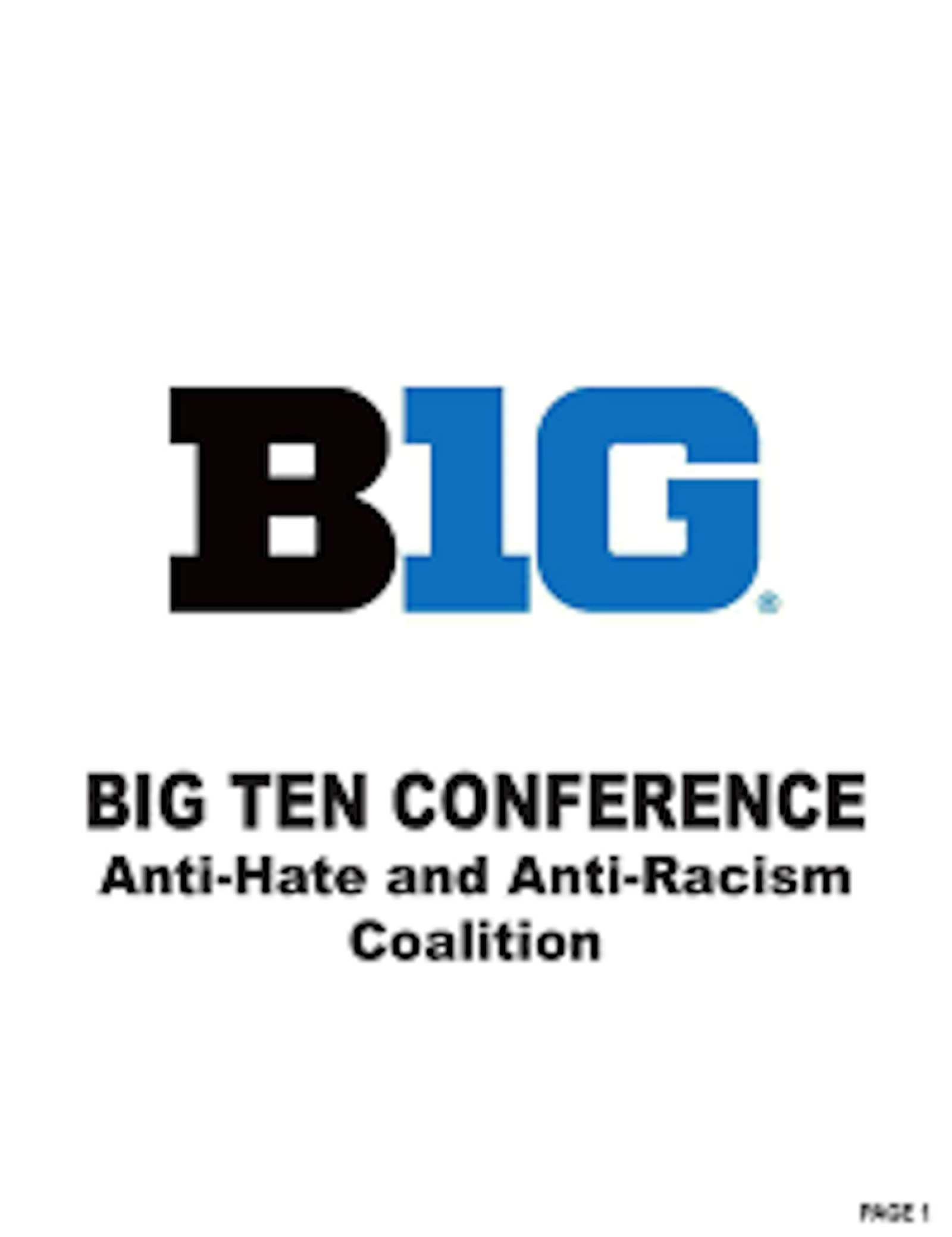 The Big Ten's Anti-Hate and Anti-Racism Coalition Logo