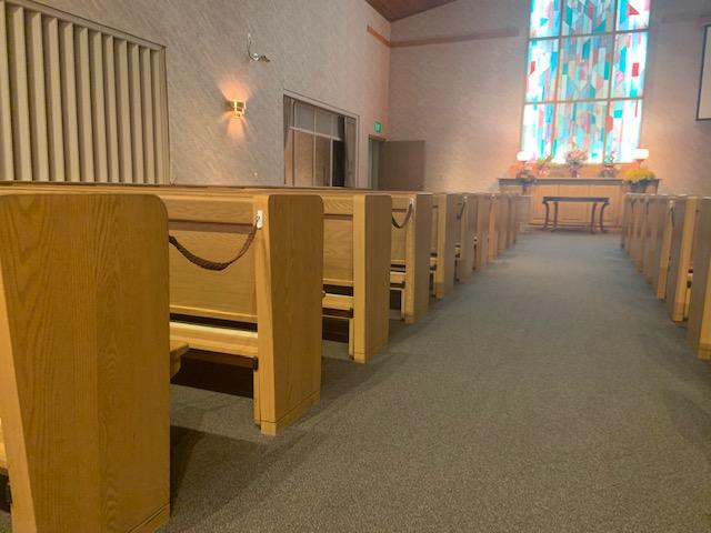 Pews in a chapel