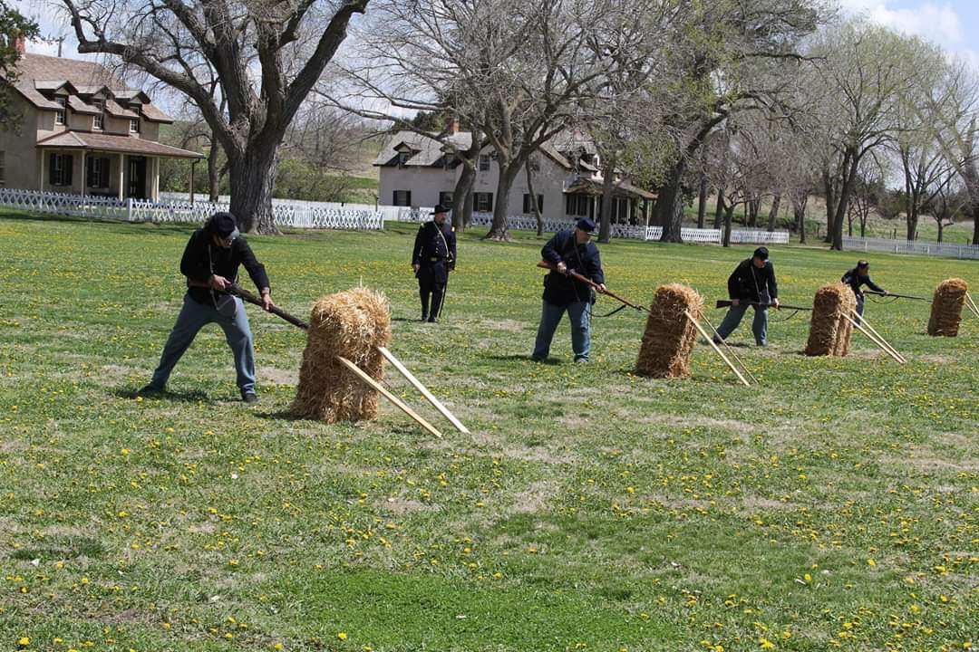 First Nebraska Volunteer Infantry Bayonet Drills for Living History - How living history events are connecting Nebraska to its past