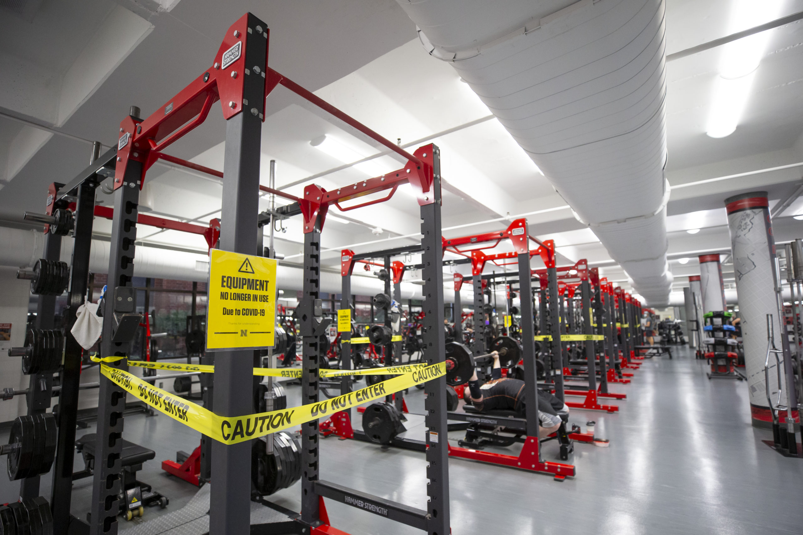 The Strength Training and Conditioning Room of the Campus Recreation Center at the University of Nebraska-Lincoln on Sunday, Oct. 25, 2020 in Lincoln, Neb. Photo by Lydia Asplin