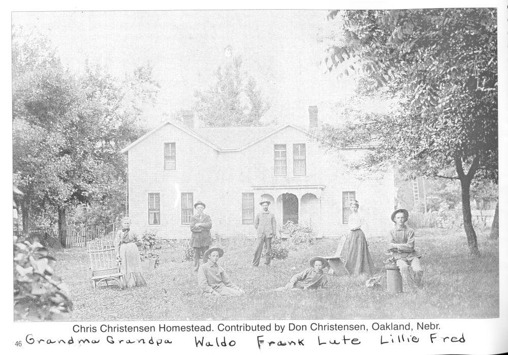 Old photo of Christensen family