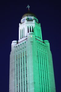 IMG 9204 200x300 - Nebraska State Capitol glows green in support of veterans