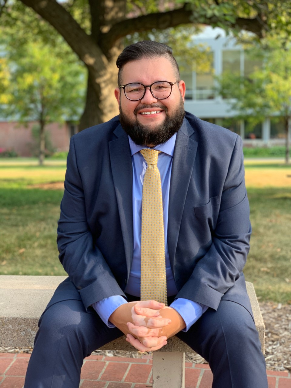 This is a photo of Luis Olivas Herrera. He is the assistant director of the University of Nebraska at Kearney's office of diversity and inclusion. The office handles diversity initiatives at the university.