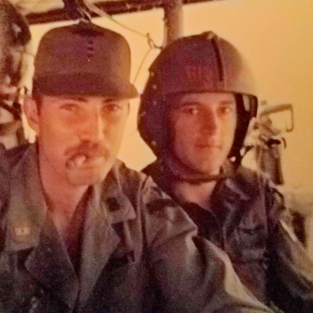 This is an image of Michael O'Brien during his service days in the United States Army, O'Brien, pictured on the left, served from 1965 to 1969 and spent two separate tours in Vietnam