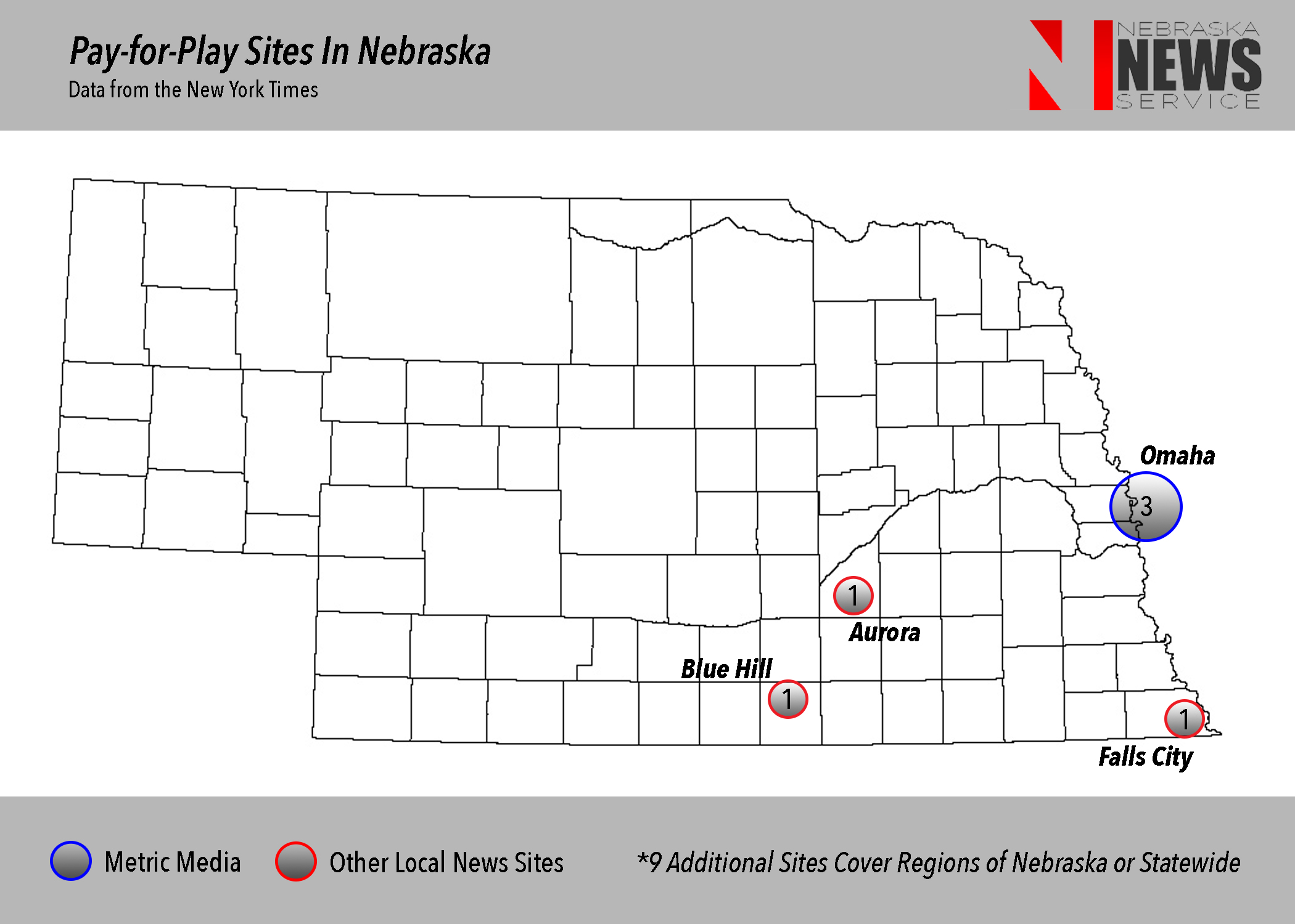 News Lab Map - Pay-for-play news in Nebraska: Alive and untrustworthy