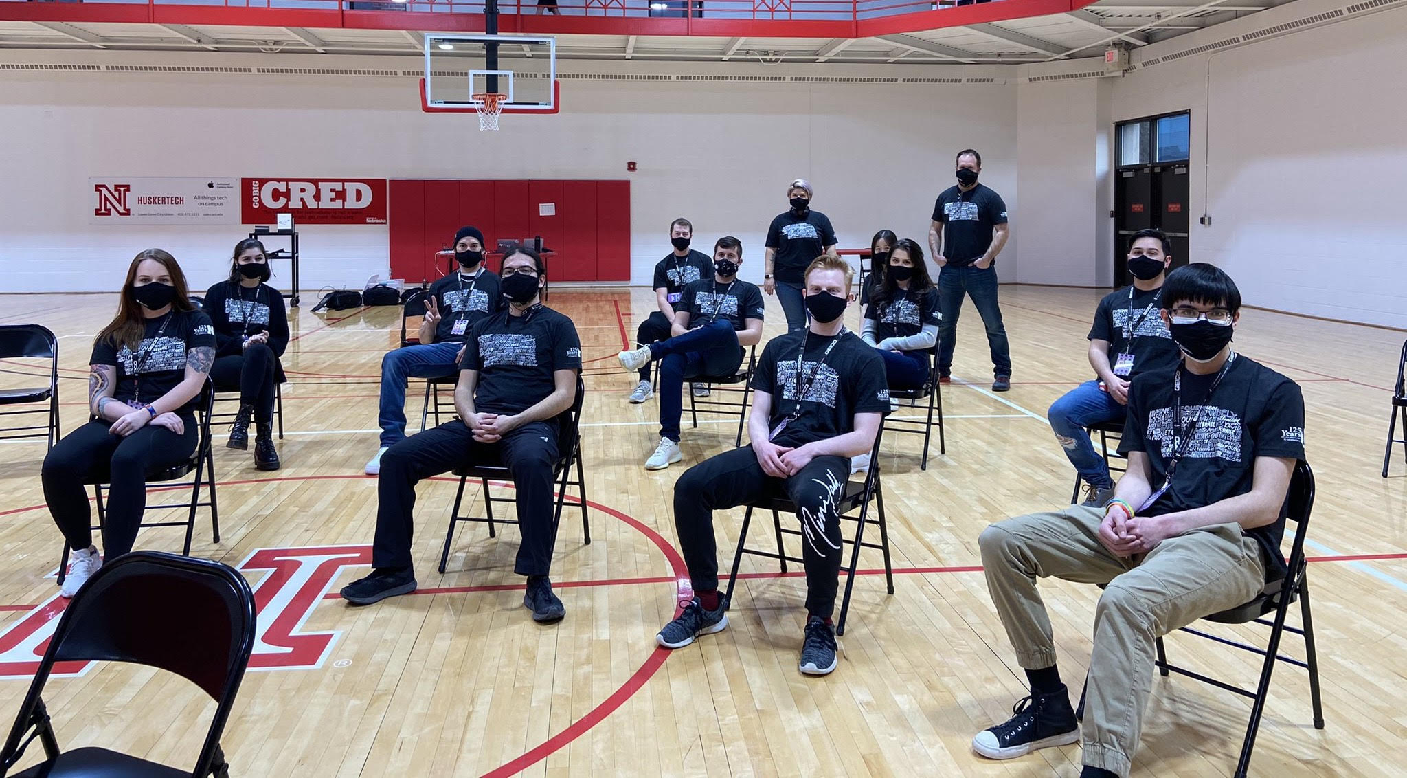 UNL students gather in-person with masks for FIFA 21 tournament
