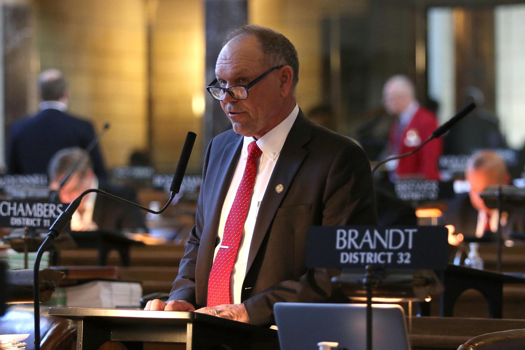 Senator Tom Brandt at the Nebraska Capitol
