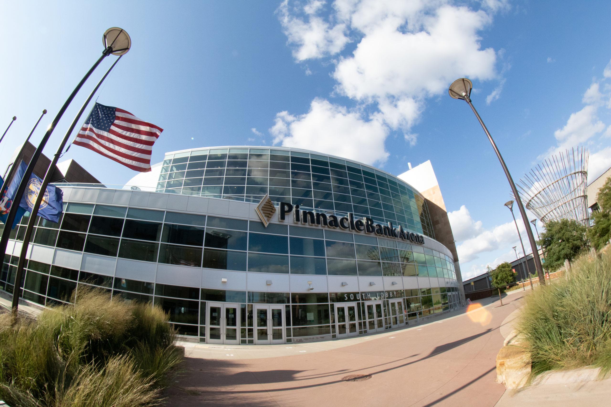 The Pinnacle Bank Arena in 2020. Photo by Aaron Housenga
