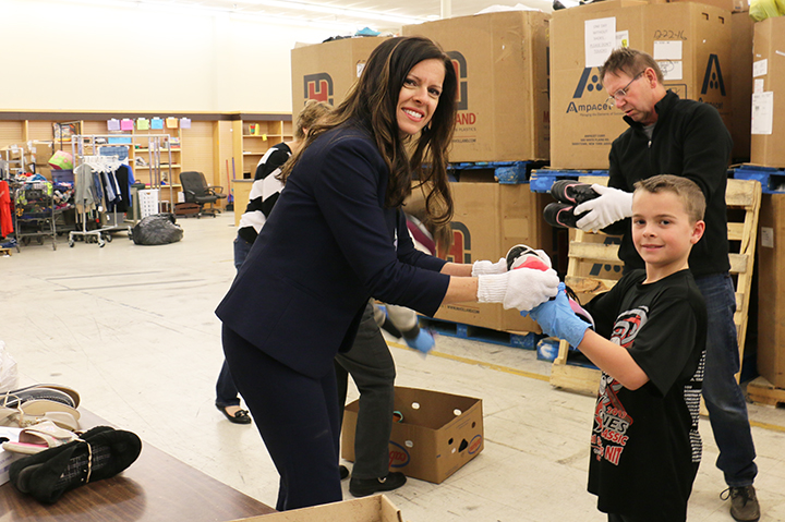 ODWSsorting3 - Annual shoe drive in Lincoln collects footwear for People's City Mission guests