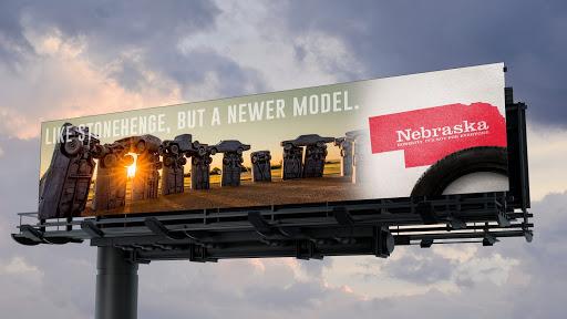 Carhenge billboard mockup