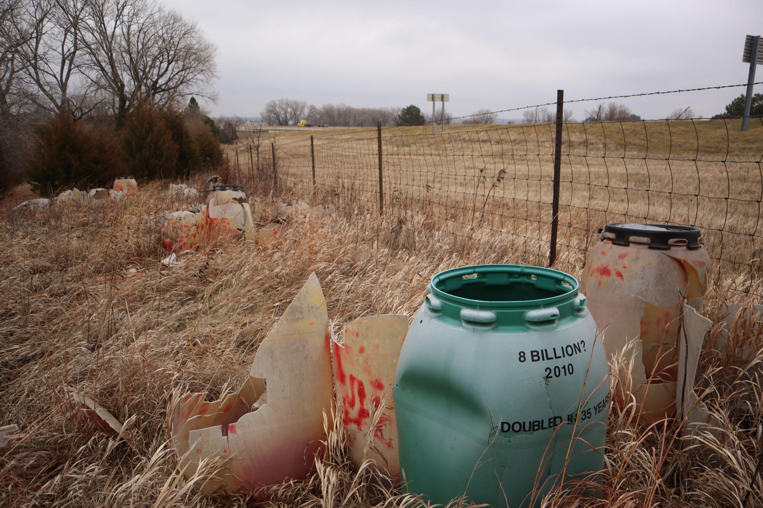 Barrels off the interstate