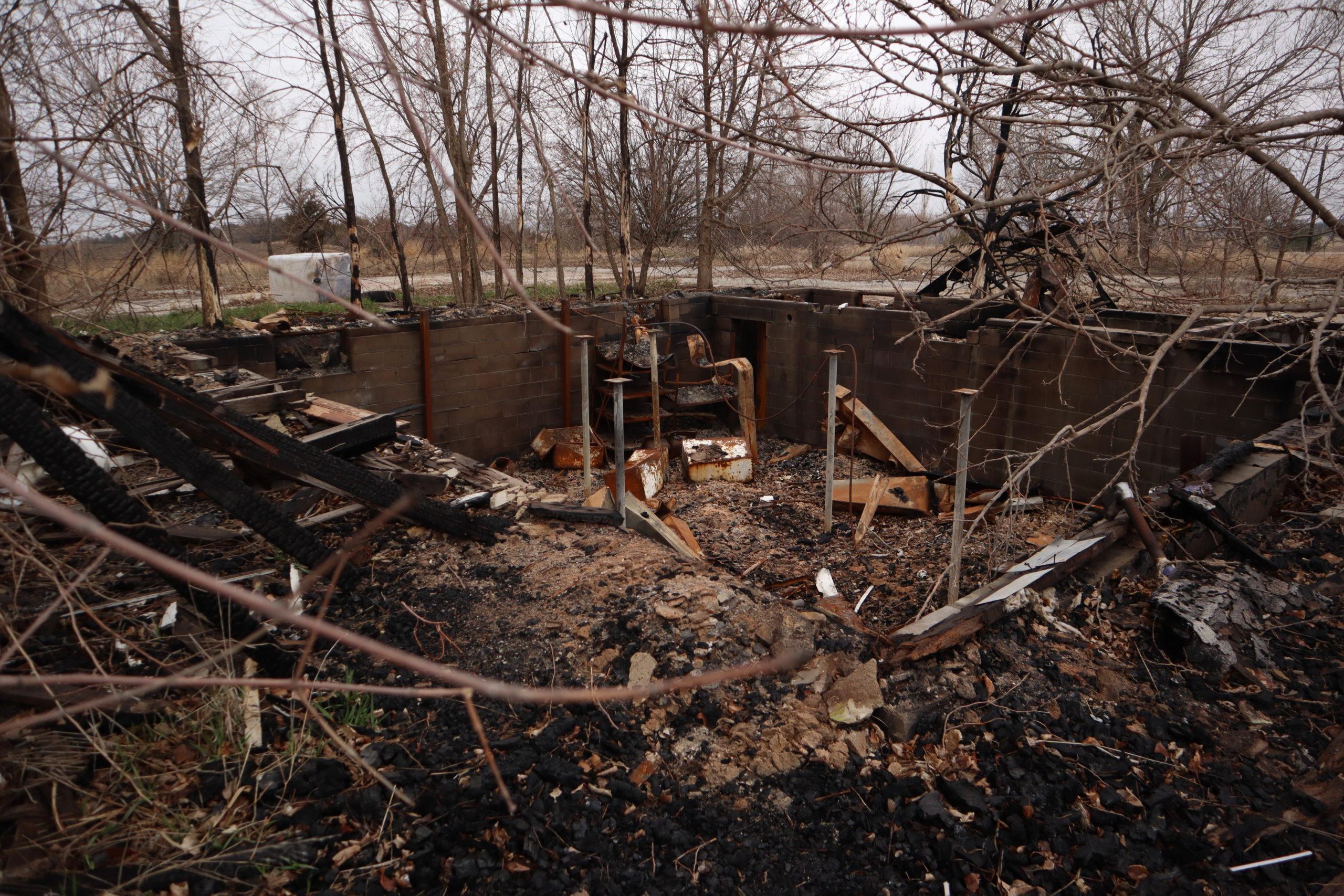 burntfoundation scaled - Prairie Peace Park now lies in pieces