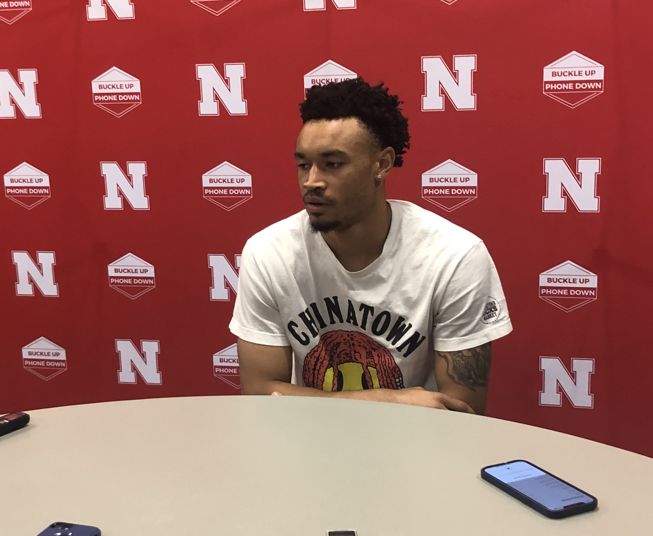 Trey McGowens answering questions